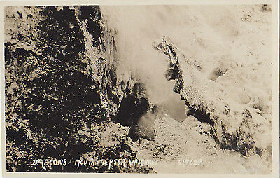 Dragon's Mouth Geyser Wairakei NEW ZEALAND Graham Ltd. Real Photo Postcard 628