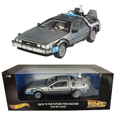 1:18 Back to the Future Time Machine with Mr. Fusion - Hot Wheels Mattel CMC98