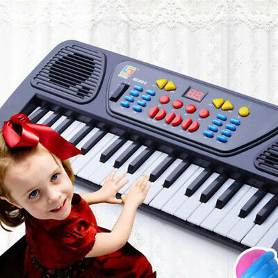 Educational 37 Keys Electronic Keyboard Musical Toy + Mic Gift for Children Hot