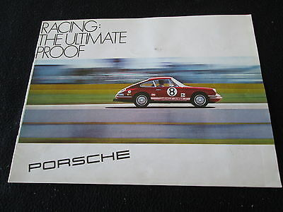 1968 1969 Porsche Racing Brochure 906 912 911L 911 L Coupe Targa Sales Catalog