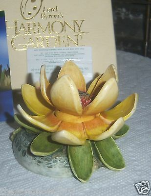 Harmony Kingdom Lord Byron's Harmony Garden LOTUS Retired New Old Stock NIB Box