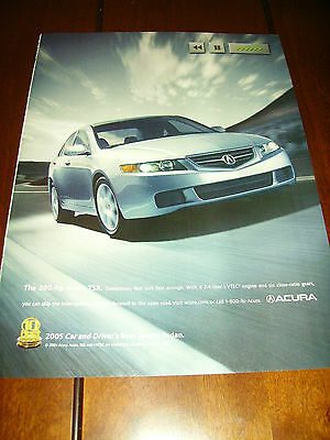 2005 Acura Tsx    ***original Ad*** Sports Sedan