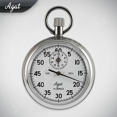 Agate Zlatoust Russian Analog Stopwatch with Shock Protection