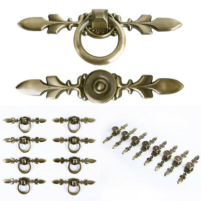 Vintage Chic Metal Drawer Pulls Antique Brass Door Cupboard Cabinet Handles Knob