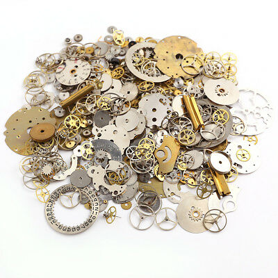50g Steampunk Watch Parts Jewellery Altered Crafts Art Cyberpunk Cogs Gears