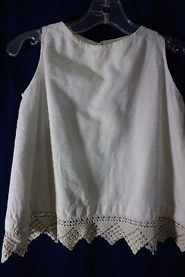 "Victorian Girl's Cream Flannel Slip w/Crochet- Chest 30""-A WINTER'S CHILD-  SALE"