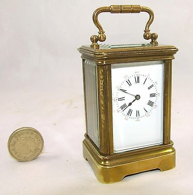 Antique Miniature French DROCOURT of PARIS Carriage Clock Timepiece Number 28638