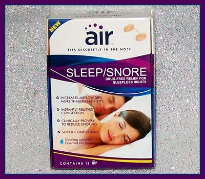 Air Sleep / Snore 12 Count Drug Free Snoring Relief Calming Lavender Chamomile