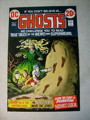 GHOSTS #17 COVER ART original approval cover proof 1970's, HORROR!!