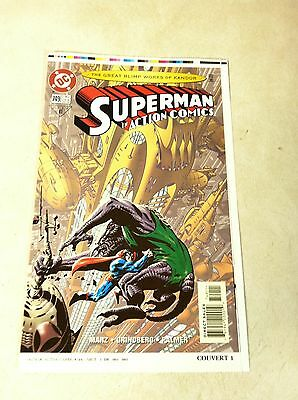 SUPERMAN in ACTION #749 COVER ART approval cover proof BOTTLE CITY KANDOR