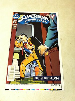 SUPERMAN ADVENTURES #33 COVER ART approval cover proof CLARK KENT BUSTED