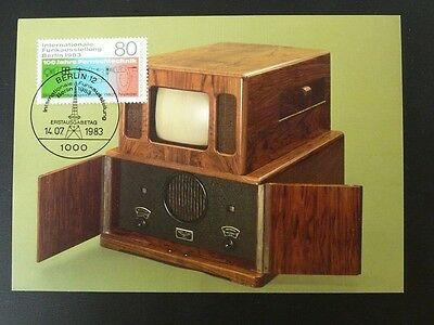 centenary of television maximum card Germany 72827