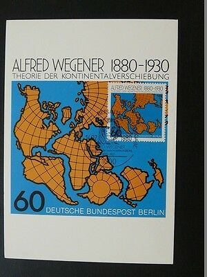 geophysics Alfred Wegener geodesy continental drift maximum card Germany 72541