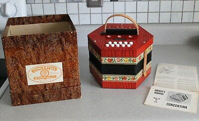 Vintage Concertina 20 Key German Model #502 And 2518 Squeeze Box