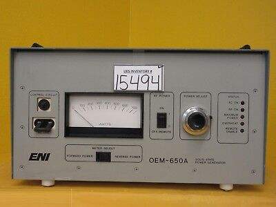 OEM-650A ENI OEM-6A-11491-52 Soild State Power Generator Used Tested Working