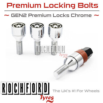 Premium Locking Wheel Bolts 12x1.5 Nuts Tapered For Vauxhall Vectra VXR 06-08