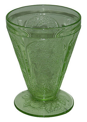 Jeannette Cherry Blossom Green Footed Juice Tumbler