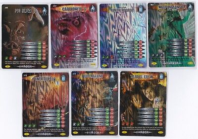 Doctor Who Battles in Time INVADER Complete 7 SUPER RARE Cards inc. 417 519 526