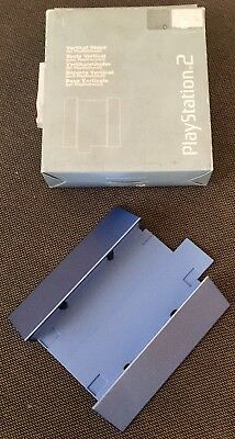 Official Sony Playstation 2 PS2 Metallic Sky Blue Vertical Stand Boxed FreePost