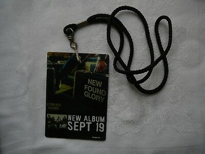New Found Glory Promo Store Pass With Strap Coming Home Cd