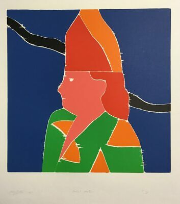 Philip Sutton ARTIST MOTHER 1967 Vintage Signed Woodblock Print
