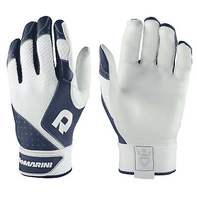 DeMarini Phantom Men's Baseball/Softball Batting Gloves - Navy/White - XL