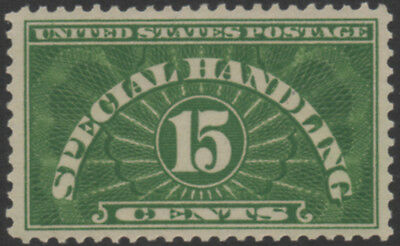 """USA, 15c green """"Special Handling"""" stamp mounted mint."""