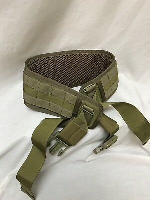 Eagle Industries Padded MOLLE Belt Small Khaki SEALs SFLCS
