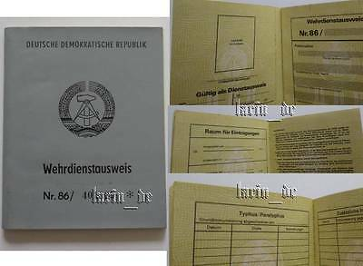 DDR 1986 NVA / Grenztruppen Armee Ausweis , East german army ID book / document