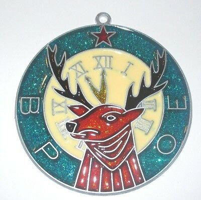 Elks Suncatcher   (Fraternal Group Suncatchers)