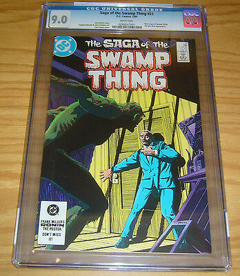 Saga of the Swamp Thing #21 CGC 9.0 new origin - alan moore - stephen bissette