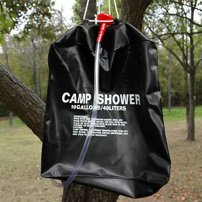 40L Portable Outdoor Camping Heat Shower Bag Solar Camp Shower