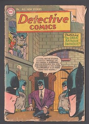 Detective Comics #222 (1937 Series) Batman DC Comics August 1955 FR
