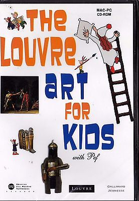 Cd Rom Neuf En Anglais The Louvre Art For Kids