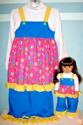 American Girl Size and Girl's Matching Outfits Size 6/6x