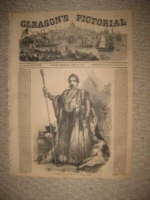 Antique 1854 Emperor Louis Napoleon France French Royalty Print Superb Rare Nr