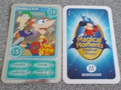 Morrisons Magical Moments Festival Card - I5 Shiny Phineas & Ferb