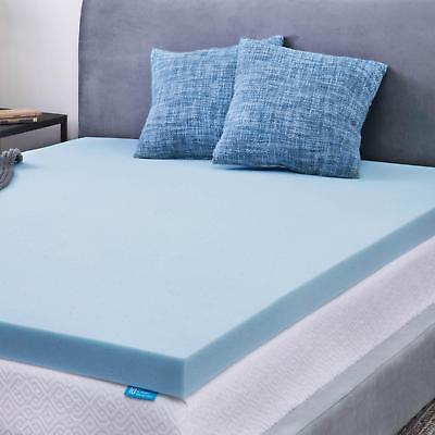 LUCID 2, 3, 4 inch Gel Memory Foam Mattress Topper, Out of Original Package, OOP