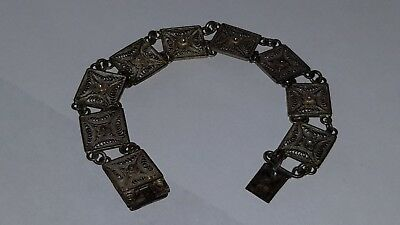 Antique Childs Hand Done Believe to be Victorian Silver Bracelet
