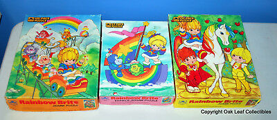 3 DIFFERENT Rainbow Brite Jigsaw Puzzles Collectable Rare 1983