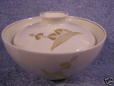 Castleton Golden Meadow-Sugar Bowl with Lid