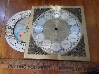 """Vintage """"Trend"""" Grandfather Clock Face, Moon, Ships, Used, """"10x10"""" Inches!"""
