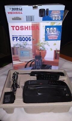Vintage Toshiba FT-8006, 40 Channel auto scanning Cordless Phone, needs battery