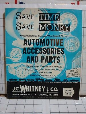WHITNEY & COMPANY vintage early 1970s auto automobile CAR PARTS CATALOG 297 book