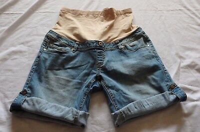 LADIES Size 12 Blue denim maternity over belly SHORTS  Jeanswest long or short