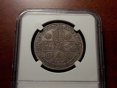 1741/39 Great Britain Half Crown silver coin NGC XF-40