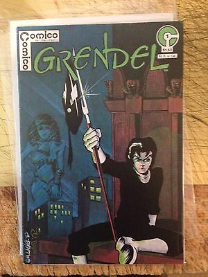 Grendal 1 Comico 1983 ( 1st Series ) Signed With Sketch Mat Wagner High Grade