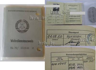 DDR 1972 WKK Eilenburg NVA Armee Ausweis , East german army ID book / document