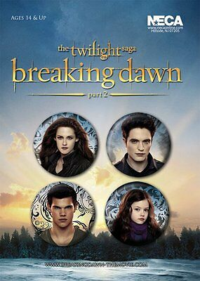Button Badge 4er Pack TWILIGHT - Breaking Dawn 2 - Renesmee, Bella, Jacob 38mm