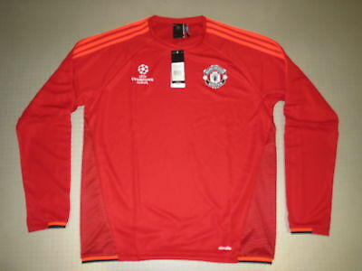 EU Training Top Manchester United 15/16 Orig adidas Gr L neu